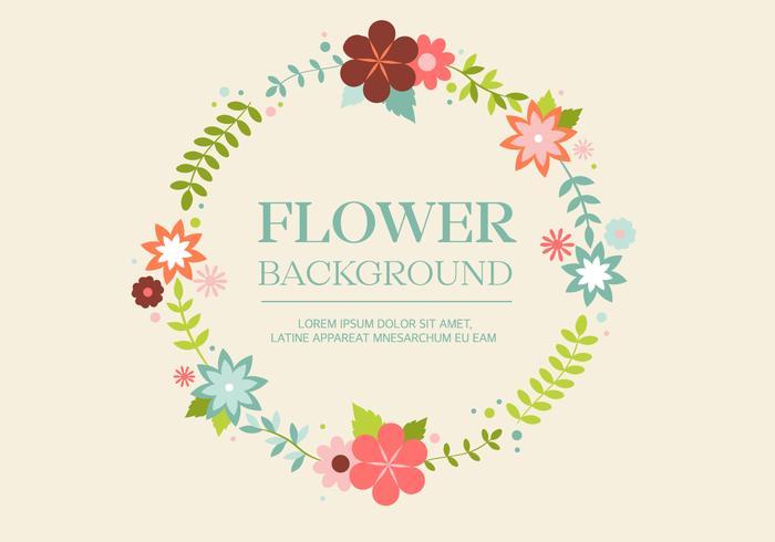 Free Vintage Flower Wreath Background