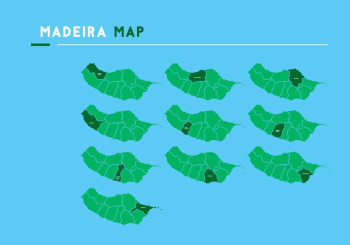 Vettore della mappa di Madeira
