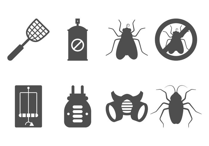 Icono de control de plagas vector