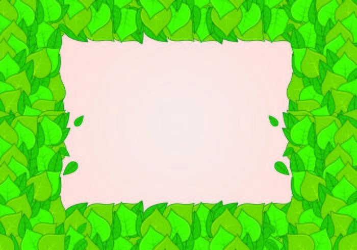 Contexte de feuilles vertes naturelles vecteur