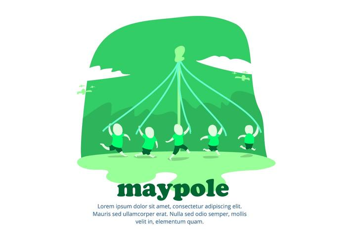 Maypole Background vector