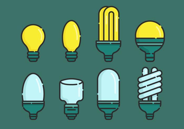 Ampoule Vector Illustration Sets