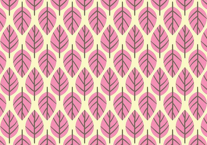 Pink Leaf Background Daun Vector