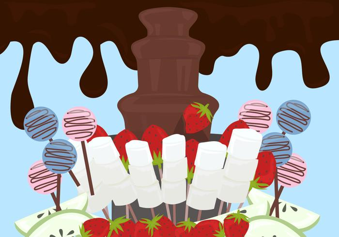 Chocolate Fountain Background Vector