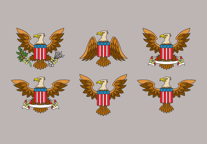 Aigle Seal USA Vector