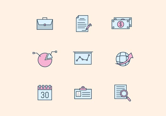 Pastel Business Icons