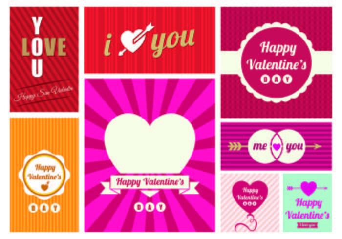 San Valentin Day Greeting Card Vectors