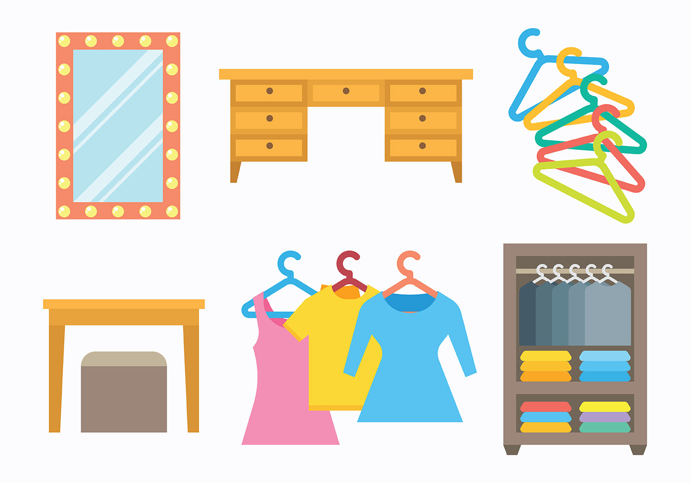 Free Dressing Room Icons Vector Download Free Vector Art