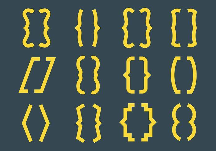 Free Bracket Icons Vector