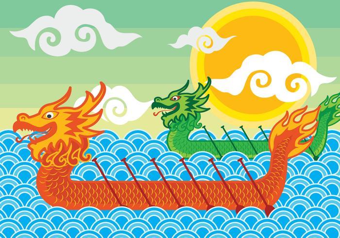 Dragon Boeat Festival Illustration