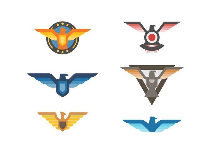 Elégant d'Eagle Badge vecteurs libres