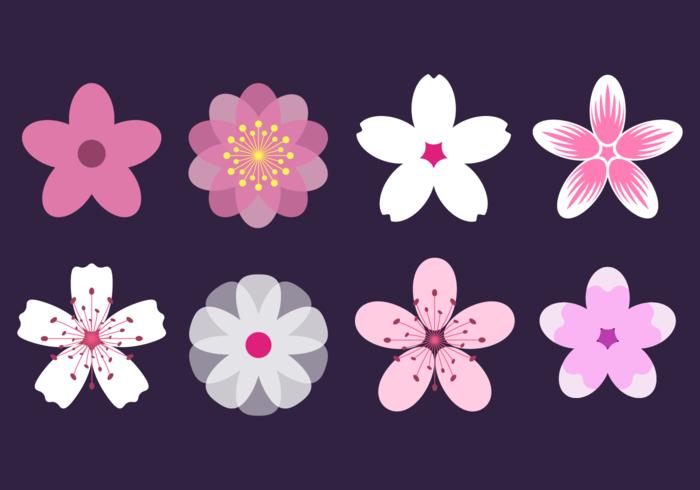 Elegante rosado del vector del flor del melocotón