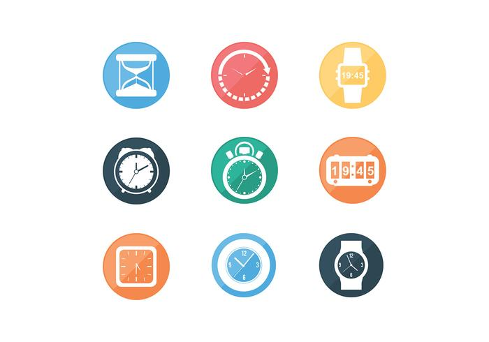 Various Timer Icon Free Vectors