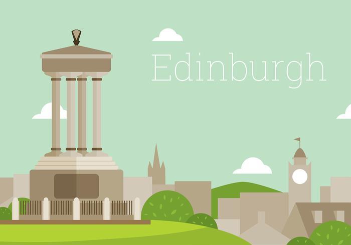 Edinburgh Vlak Landschap Gratis Vector