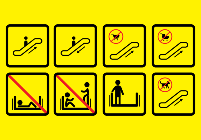 Escalator Sign Vector