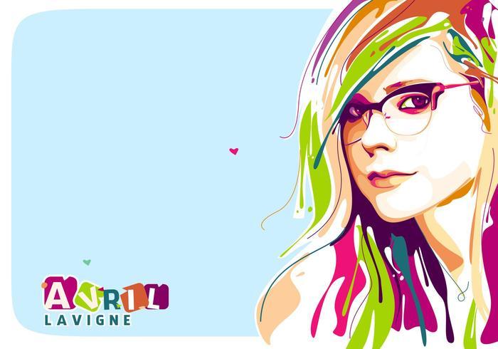 Avril Lavigne Vector Popart Portret