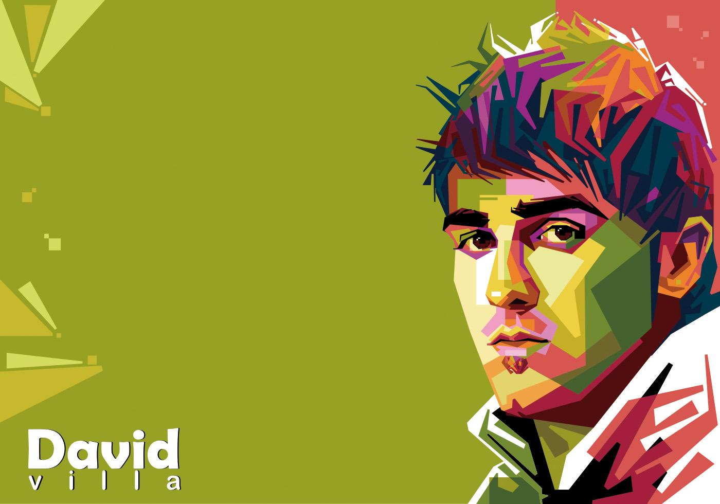 david villa vector wpap download free vector art stock