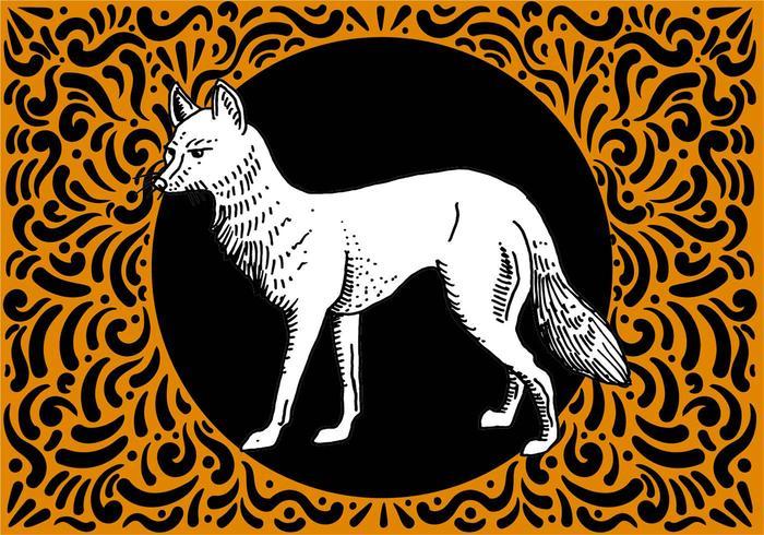 Main Ornement Drawn Fox Conception