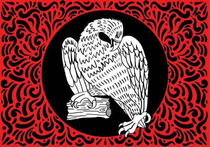 Ornate Hawk Design