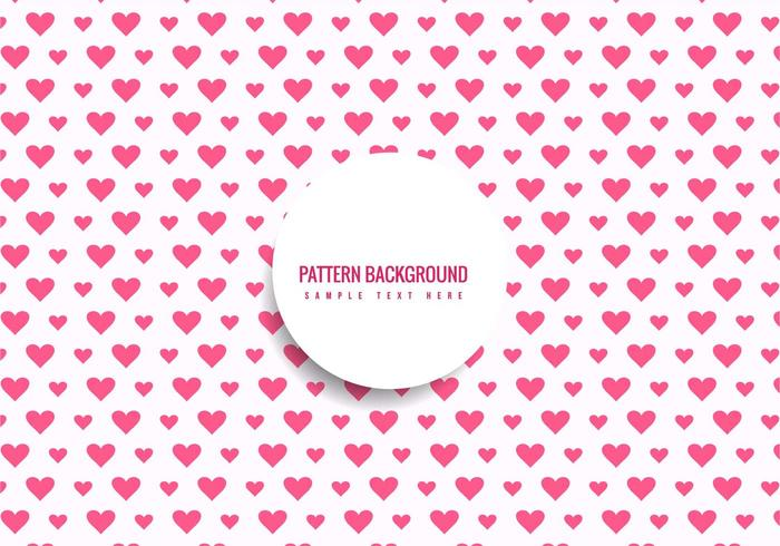Free Vector Hearts Pattern Background