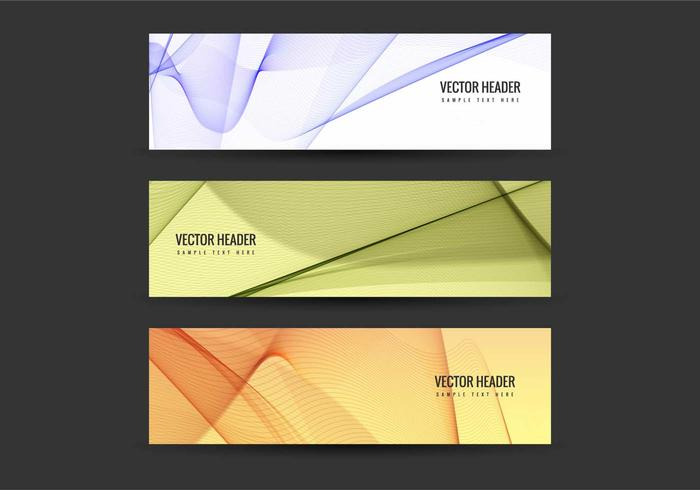 Free Vector Colorful Headers Set