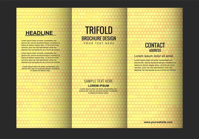 Free Vector Moderne Tri Fold Broschüre