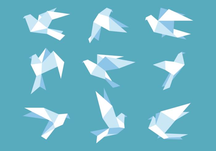 Papier Paloma dans Origami style vecteur