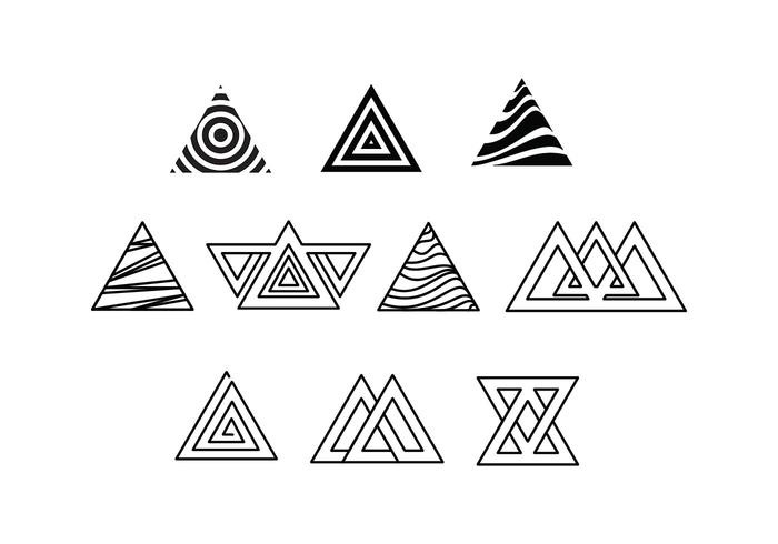 Free Prisma Triangle Vectors