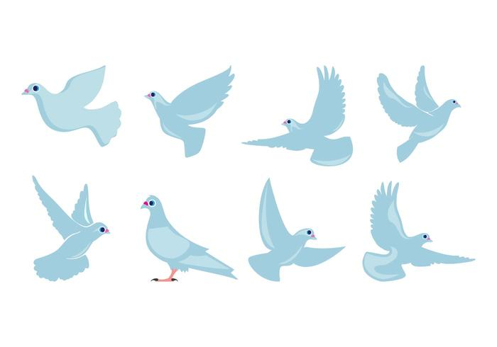Free Flat Dove Flying Vector
