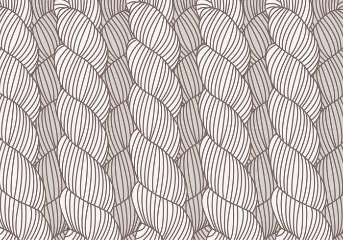 Hand Drawn Plait Pattern Vector