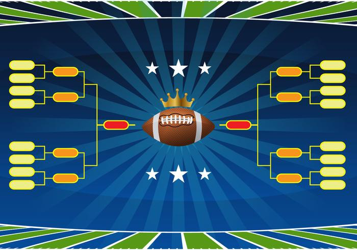 Football Tournament Bracket Vector