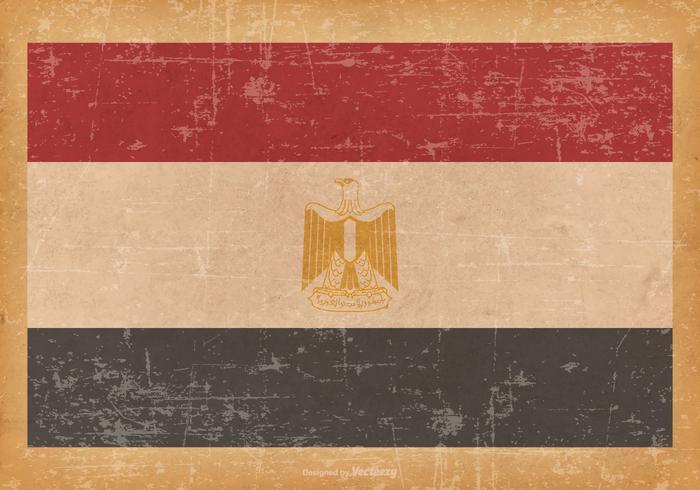 Flag of Egypt on Grunge Background