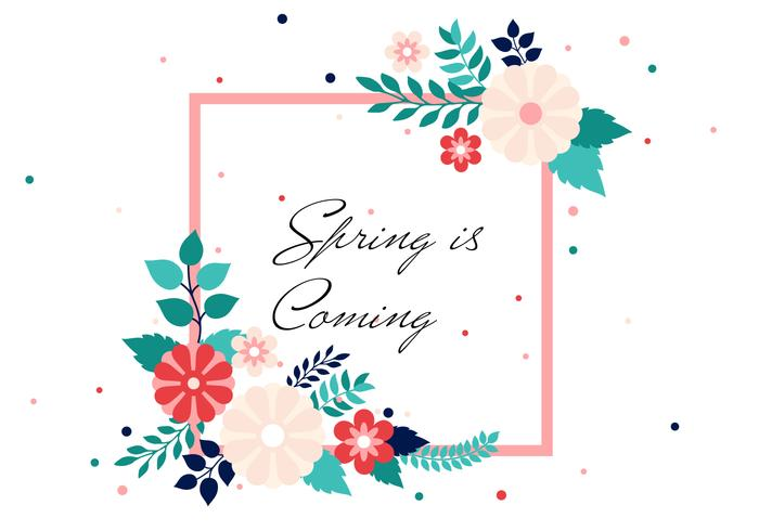 Free Spring Vector Background