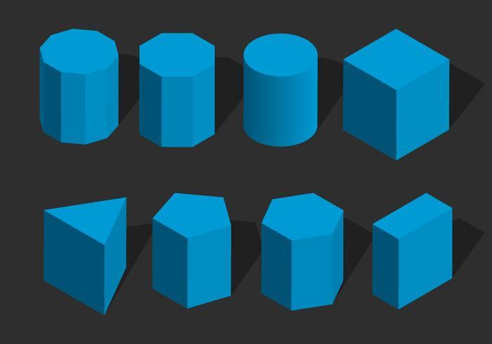Isometric Geometris Shape Vector