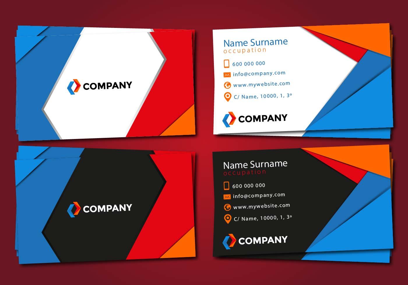tarjetas business cards vector