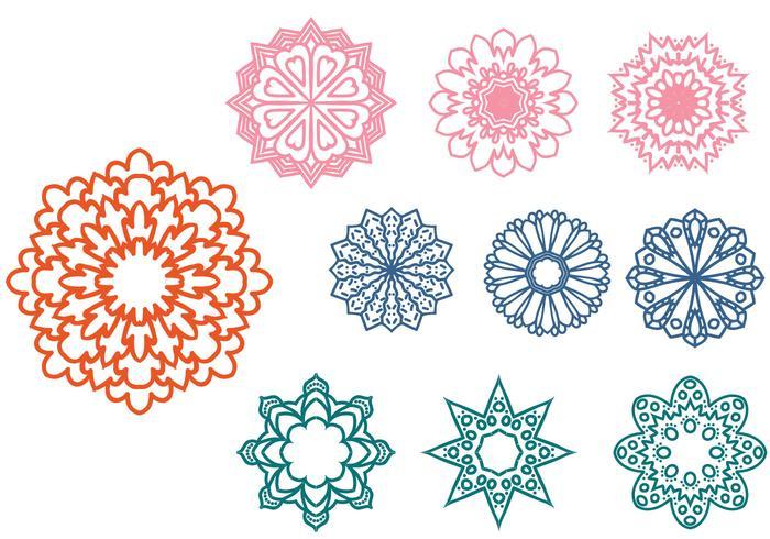 Fria Abstract Ornaments Vektorer