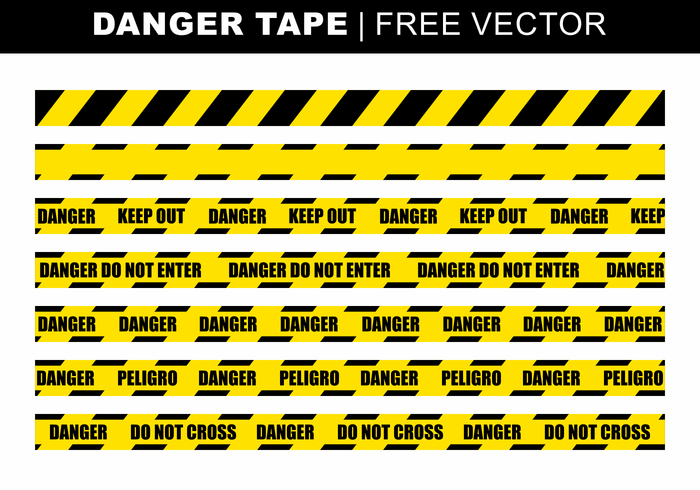 Danger Tape Free Vector