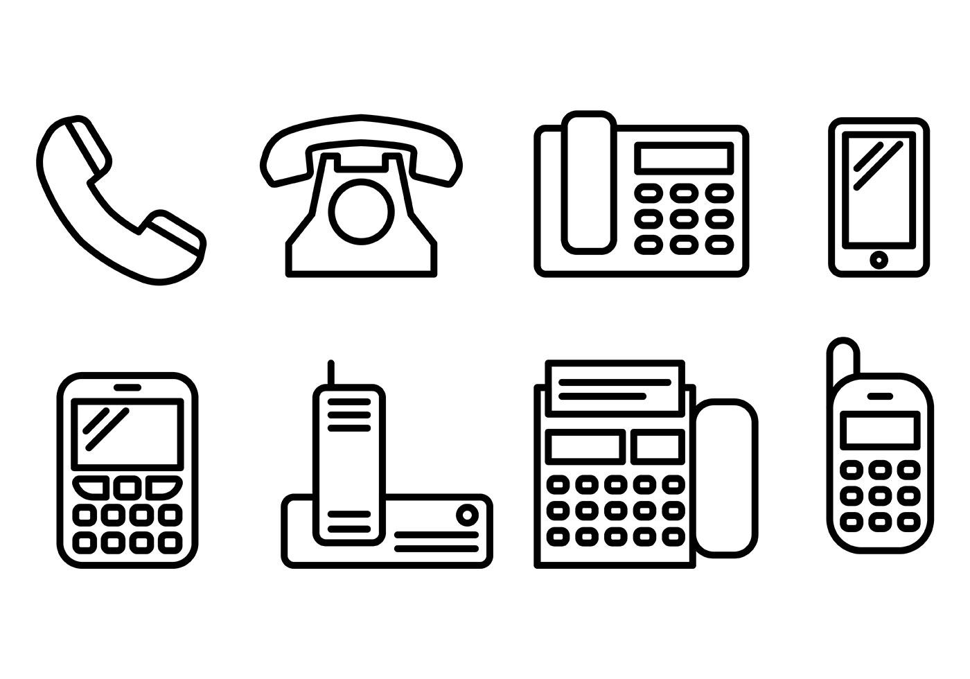 Tel Icons Vector - Download Free Vectors, Clipart Graphics ...