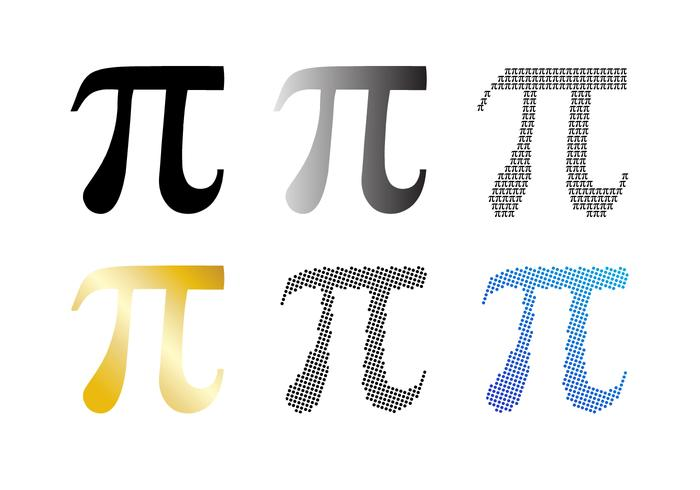 Pi symbol vector set download free vector art stock for Pi character