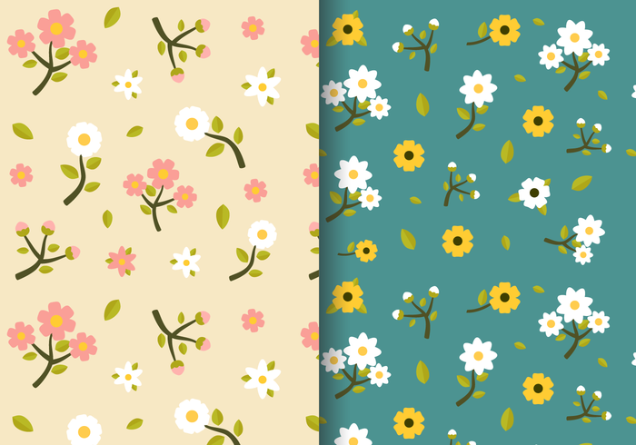 Free Vintage Spring Floral Pattern Download Free Vector Art Stock