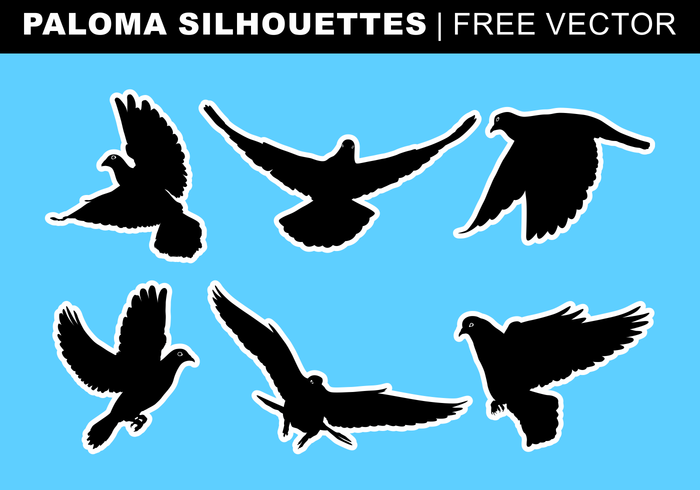 Paloma Silhouettes Free Vector