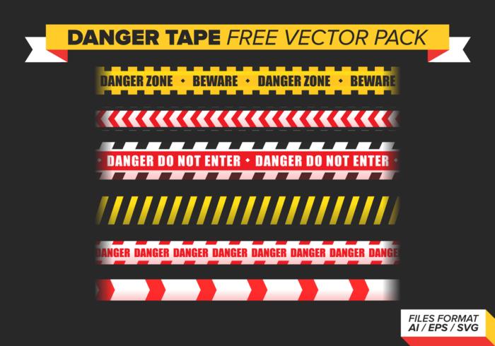 Gevaar Tape Gratis Vector Pack