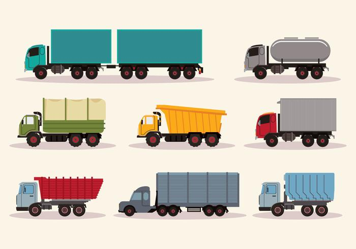 Work Trucks Vector