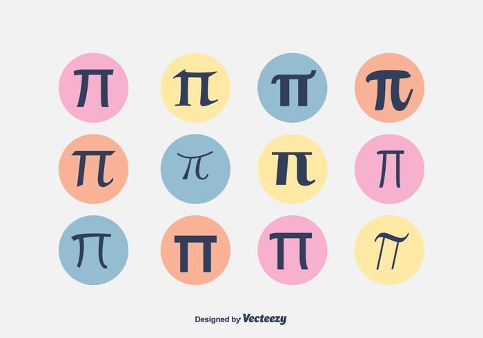 Pi symbool vector set