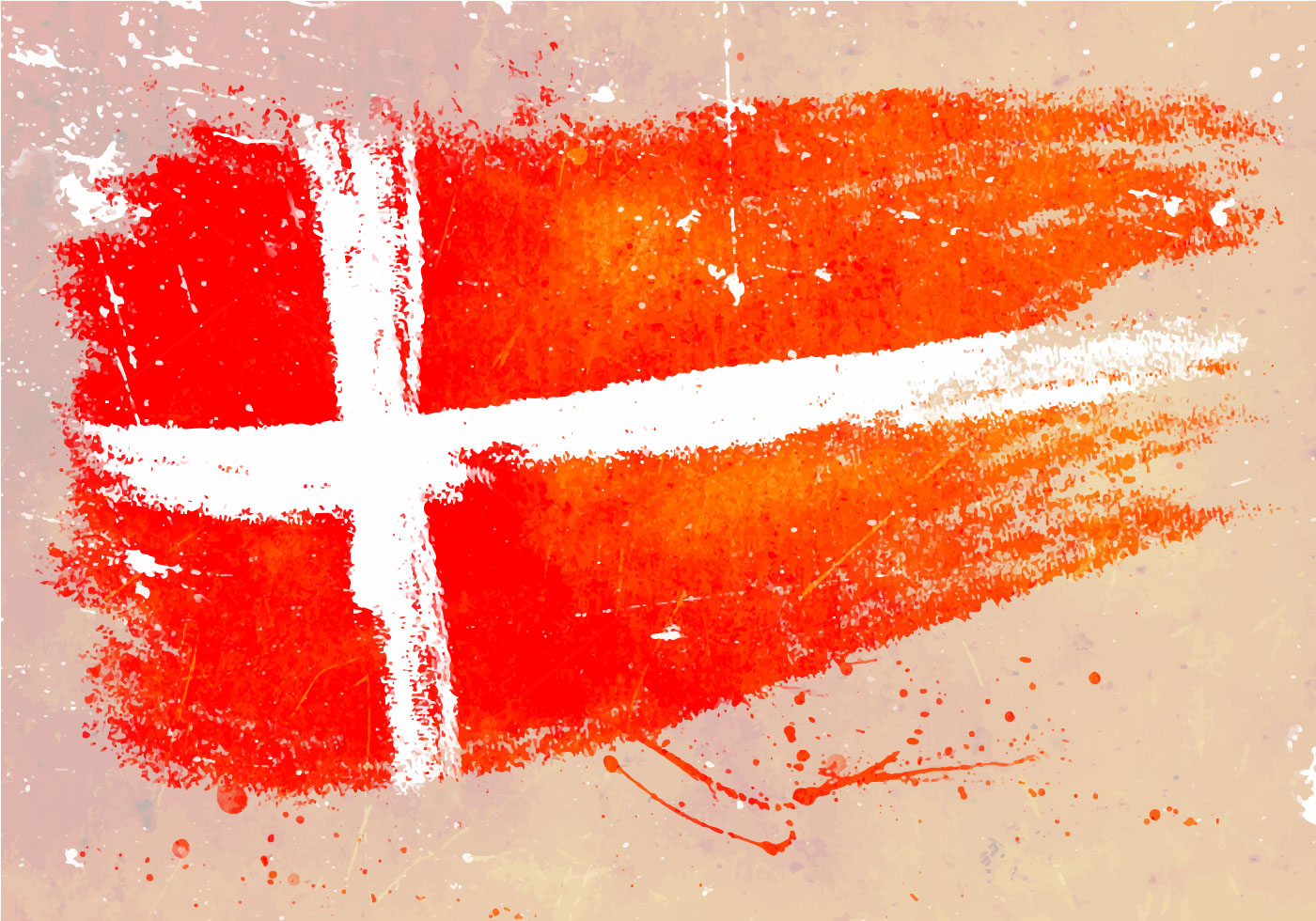 Painted Danish Flag Backdrop Background Download Free