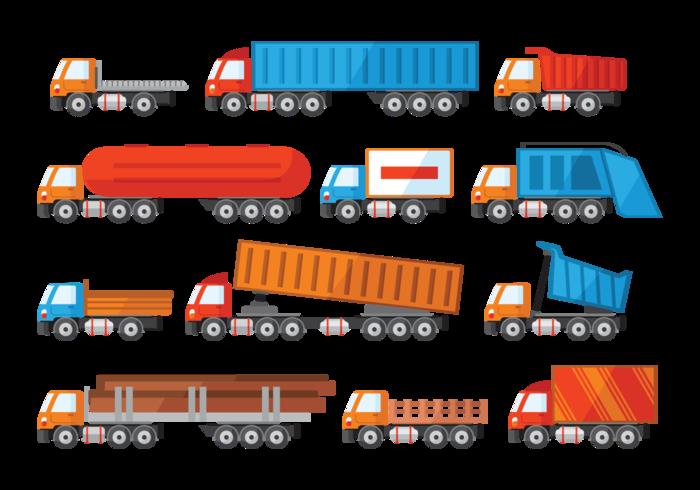 Camion Icons Vektor