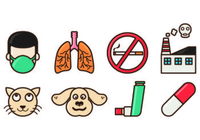 Set Of Asthme Icons