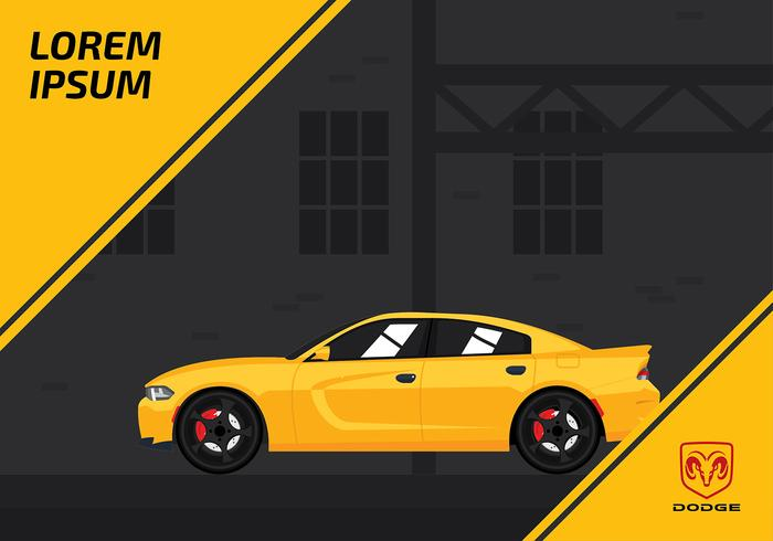 Template Dodge Charger Gratis Vector