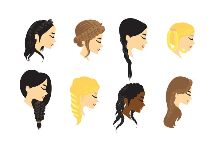 Plait Hair Vector