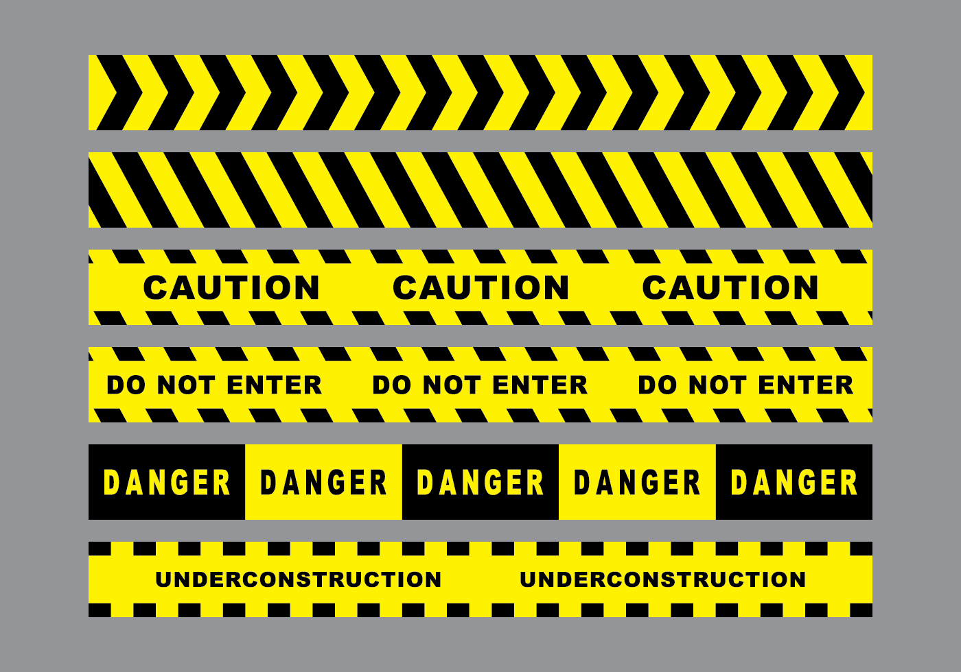 Under Construction Tape Background Caution Tape Free Vect...